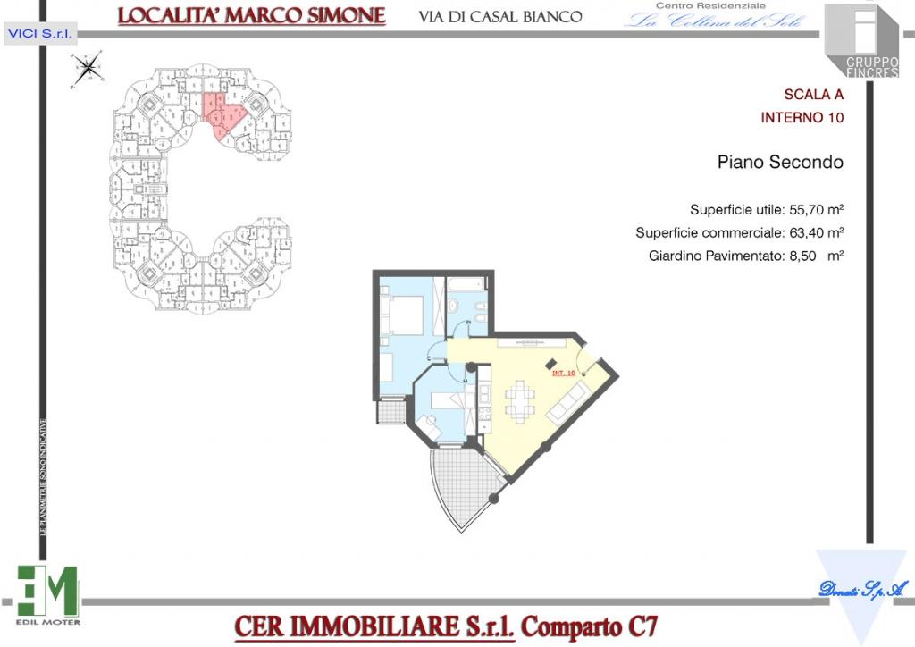 La collina del sole appartamento a10 gruppo fincres for Affitto appartamento a10 roma