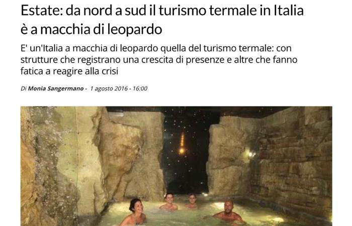 Estate: da Nord a Sud il turismo termale in Italia è a macchia di leopardo