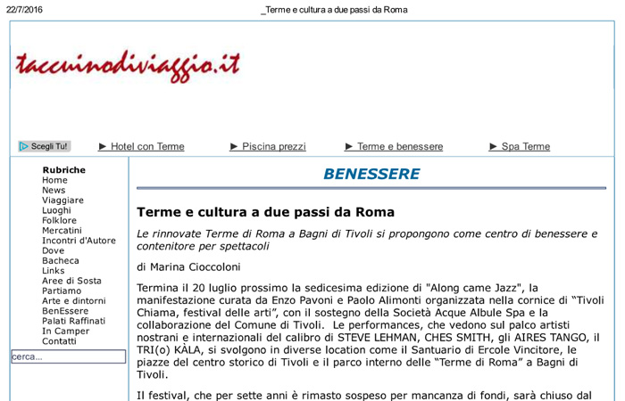 Terme e cultura a due passi da Roma