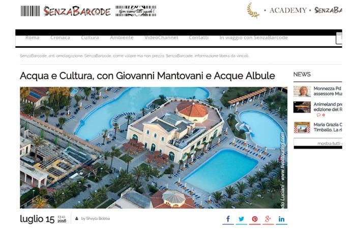 Acqua e Cultura, con Giovanni Mantovani e Acque Albule