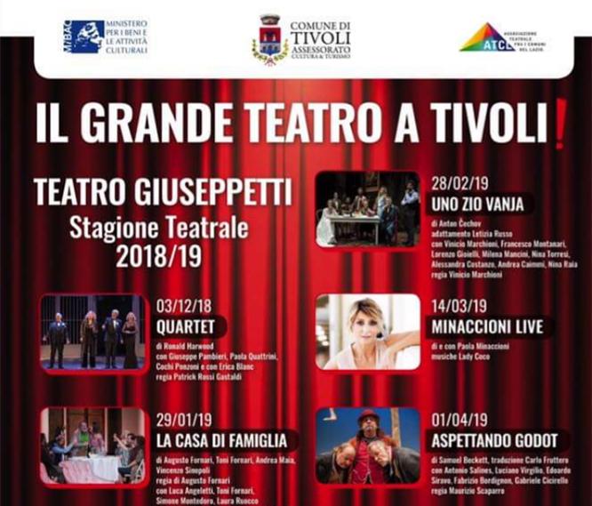 TEATRO A TIVOLI - STAGIONE 2018/2019