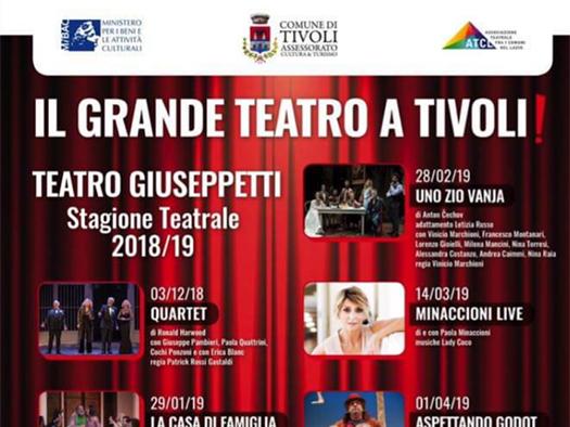 STAGIONE TEATRALE 2018-2019 A TIVOLI